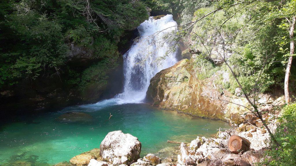 Wasserfall am Ende der Schlucht