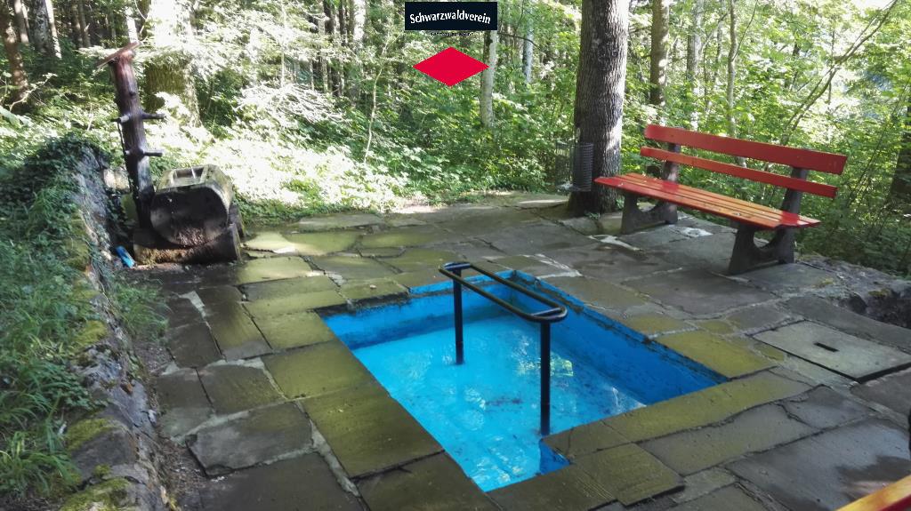 Die Wassertretstelle in Betzweiler