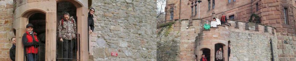 Gruppenbild auf der Burg Ortenberg