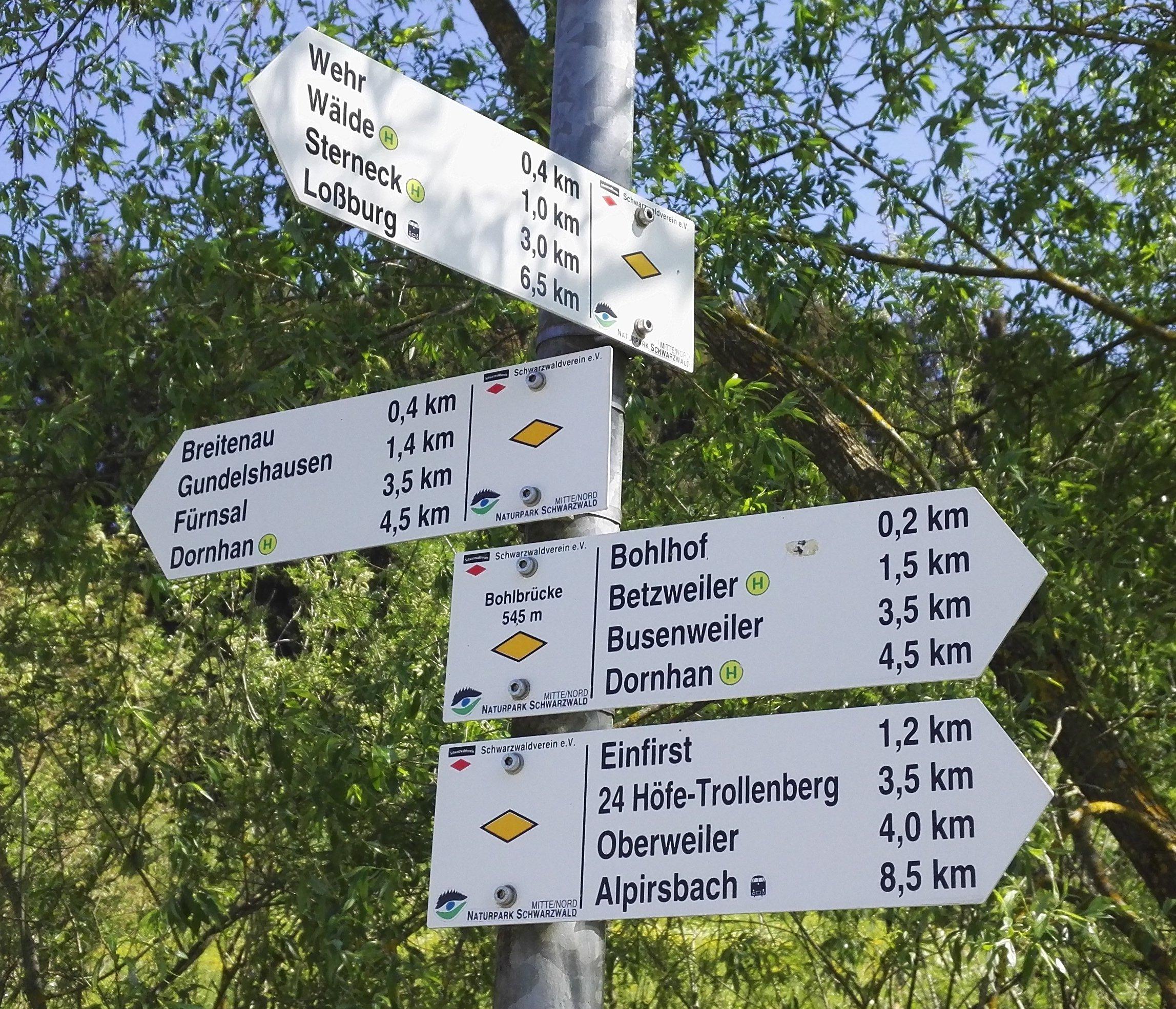 "Der Wegweiser ""Bohlbrücke"" FDSBW007"